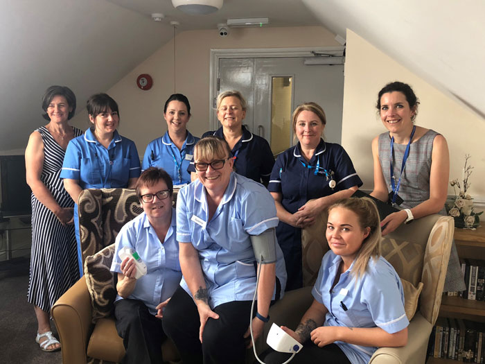 NHS and Care Home staff involved in the Health Call project