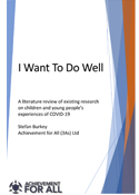 I want to do well - report cover image