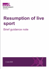 resumption of live sport