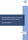 The cover of 'An Independent Evaluation of Sector-Led Improvement in Local Government'
