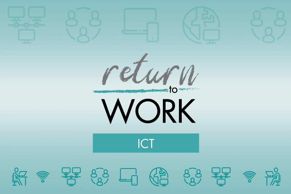 Turquoise Return to Work in ICT logo