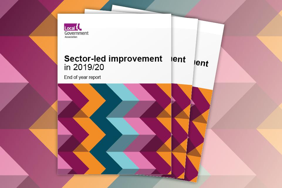 Sector-led improvement end of year report 2019-20 - cover