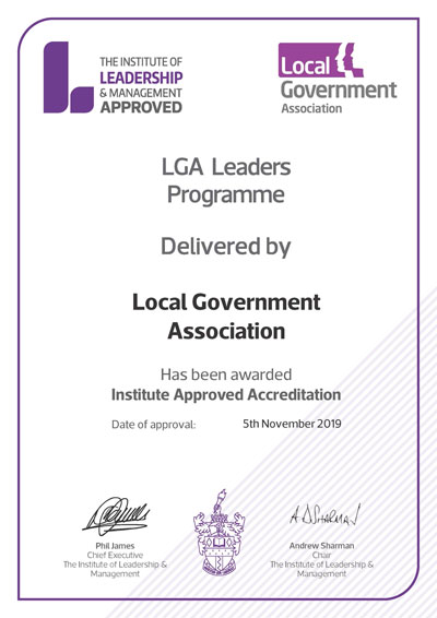 IA approved centre LGA leaders certificate