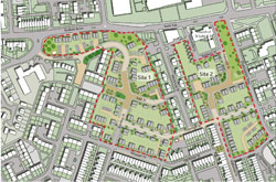 Griffin housing site development map