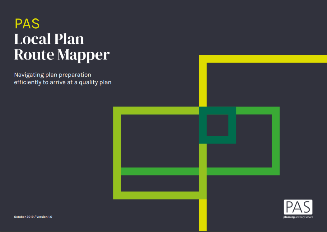 Front cover of PAS  PAS Local Plan Route Mapper document