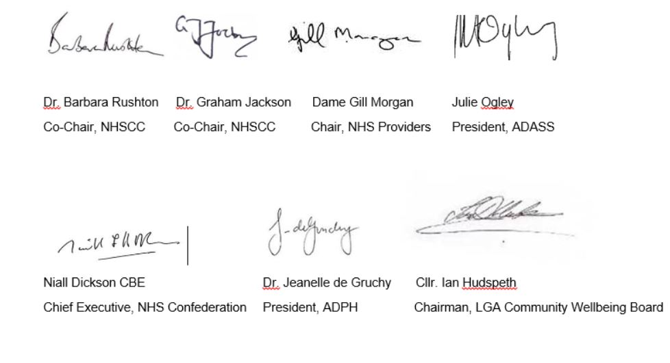 Six principles of integration signatories