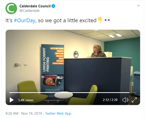 Calderdale Council tweet