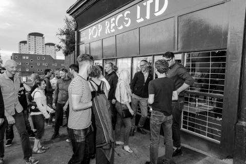 Queues outside of a shop in Sunderland ready for the grand opening
