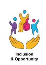 Inclusion and opportunity logo - Harrow