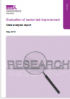 Cover image Evaluation of sector-led improvement -Data analysis report 2019