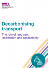 Decarbonising transport - The role of land use, localisation and accessibility front cover