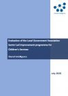 The cover of 'Evaluation of the LGA Sector Led Improvement programme for Children's Services'
