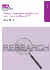 Polling on resident satisfaction with councils: Round 23