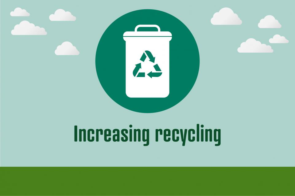 Picture of recycling bin icon with text beneath it
