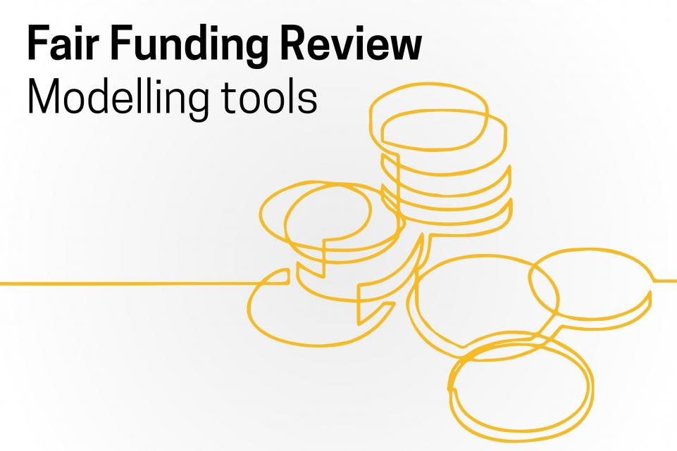 Fair funding review modelling tools