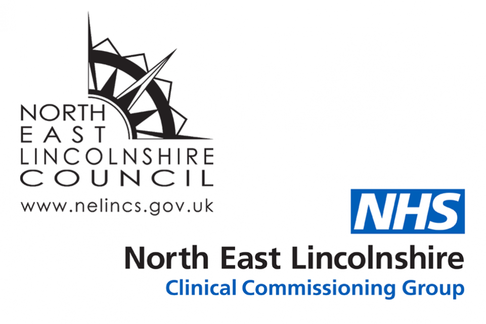 NE Lincs Council and CCG logos