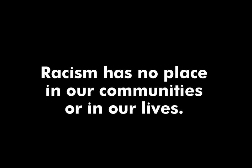 Statement on tackling racism