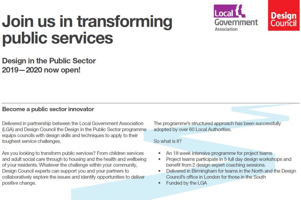 Design in the Public Sector at a glance