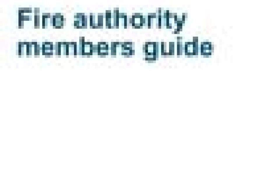 Fire authority members guide cover