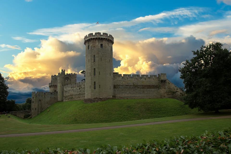 Shot of Warwick Castle